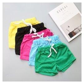 女童 純色純棉系短褲M579^#MISS