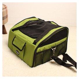 哲哲()狗包寵物外出背包 旅行便攜折疊包 狗狗帳篷 貓狗包 犬包 綠色