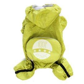 ~飛比寵物~寵物狗狗雨衣 四腳寵物雨披 泰迪貴賓衣服春夏款小狗 背包雨衣 黃色