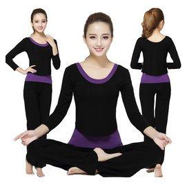 瑜伽服三純棉愈加跑步健身服女顯瘦含胸墊瑜珈服套裝長袖