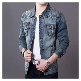 GXG牛仔夾克外套 修身男傑克潮瓊斯男士夾克春秋卡賓夾克男潮