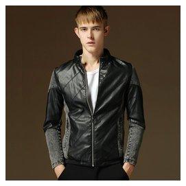 海瀾之家2014秋裝男士夾克衫薄款男裝牛仔外套 修身型Jacket潮