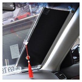 萬樂牌 汽車前擋遮陽擋防曬隔熱板車用伸縮卷窗簾汽車遮陽簾 包郵
