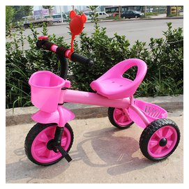 兒童三輪車腳踏車帶鬥 2~6歲寶寶手推車加粗鐵車架小孩三輪自行車