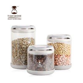 TIMEMORE帶刻度玻璃密封罐 茶葉 奶粉 咖啡豆儲物罐 廚房收納罐