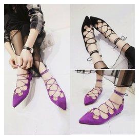 羅馬鞋涼靴子鏤空靴幫交叉綁帶繫帶平底涼鞋平跟夏天靴女長靴大碼