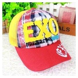 夏天寶寶棒球帽小孩兒童鴨舌帽子 男童女童網眼遮陽帽潮款 紅色 均碼50 繫帶