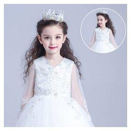 兒童婚紗皇冠配飾花童禮服女飾品兒童公主發箍頭飾女童表演出發飾