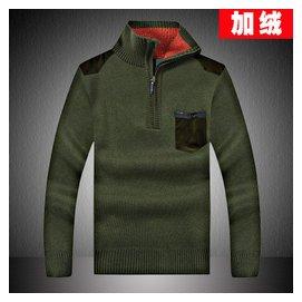 海瀾之家男裝大碼針織衫男士毛衣加厚羊毛衫中青年保暖純色線衣潮