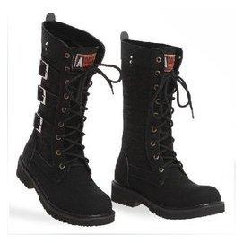 戶外靴馬靴動漫cos內增高男靴子馬丁靴 高幫 加絨大碼高筒軍靴