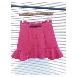 女裝 款妮子短裙荷葉邊魚尾包臀高腰呢子裙毛呢半身裙包裙