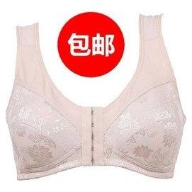 包郵女士內衣背心式前扣全棉文胸BCA杯薄哺乳 中老年人胸罩