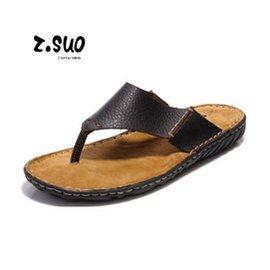 走索 涼鞋男式牛皮夾腳拖鞋沙灘鞋真皮懶人鞋耐磨防滑涼拖鞋人字拖611 壓花棕色 44