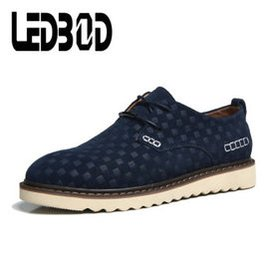 男士 鞋板鞋潮鞋英倫男鞋 牛皮鞋帆船鞋2014 617 藍色 44