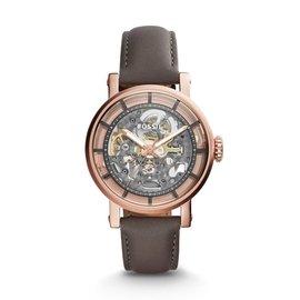 ~lingm~ ME3089 FOSSIL手錶 38mm 機械錶 鏤空 玫瑰金 男錶