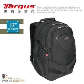 ( )TARGUS 電腦後背包 17吋 附防雨罩~黑色TSB~280~BK