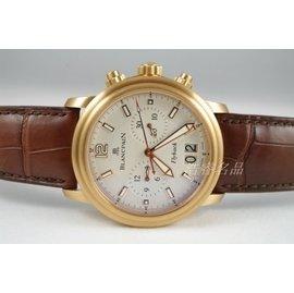 ^~好時計^~ Blancpain 寶珀 飛返計時大日曆紅金機械男表 2885F~36B4