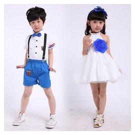 六一兒童公主裙演出服男女孩小學生大合唱服裝表演服女花 禮服