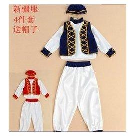 兒童國慶舞蹈服裝 少兒少數民族演出服維吾爾族表演服男女童