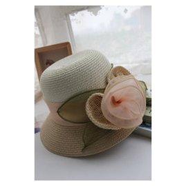 材料太陽帽女士 遮陽帽漁夫帽可折疊 女士沙灘帽圓頂
