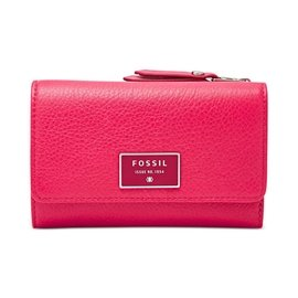 ~quali~~ 在台~FOSSIL SL6675661 桃紅色 真皮夾