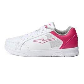 鴻星爾克男鞋 綜訓鞋女款  鞋 春 女子 網球鞋 超輕耐磨防滑戶外慢跑鞋子 正白 粉紅 3