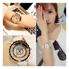 機械陶瓷手表女表鑲鑽石英表 潮流氣質防水簡約女士手表時裝表