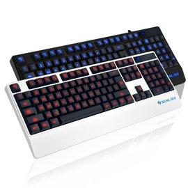 盛驪 17背光鍵盤靜音 有線發光鍵盤 筆記本台式電腦遊戲鍵盤夜光