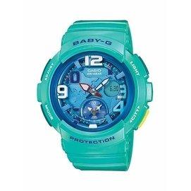 ~錶現E世代~CASIO~BABY~G 地球表面城市夏日系列 藍綠 ^(BGA~19