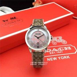 COACH 14501808 14501807 真皮錶帶 瑞士多 少女情懷手錶 附購買證明