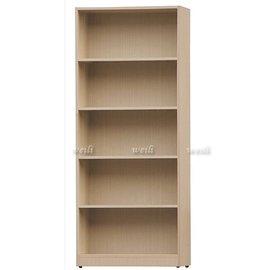 6D~新北蘆洲^~偉利傢俱~巧納多白橡色2.5尺木心板置物架~編號(D956~252)~雙