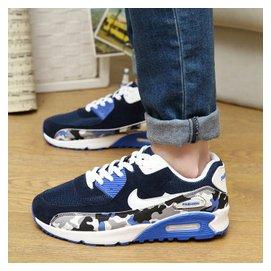 春 男鞋子 氣墊鞋帆布男士 鞋透氣情侶 鞋林彎彎潮板鞋 男鞋 增高鞋男士 皮鞋 藍色 40