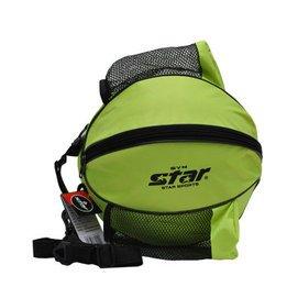 世達 籃球足球包 牛津布單肩包 帶側袋圓包 籃球型包113 綠色