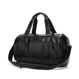 費萊德圓桶包水桶包籃球 健身包 手提包單肩旅行包男包 潮 黑色