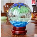 家居客廳裝飾 電視櫃擺件小夜燈結婚 夜光轉運風水晶玻璃球