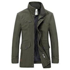 2015春 男士夾克風衣中長款 潮男修身翻領英倫外套 夾克