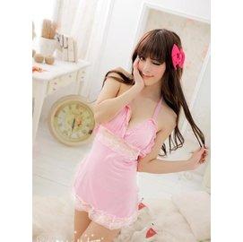 制服誘惑~性感圍裙 粉色女傭服 女僕裝 Cosplay 情趣內衣 角色扮演 女僕 女傭 情