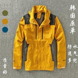 韓國原單 戶外衝鋒衣男單層防風透氣大碼薄款外套潮登山服衝鋒衣