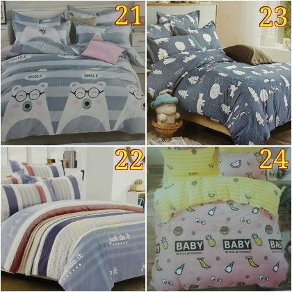 單人床包2件組 3.5×6.2尺 床包 枕頭套 薄款 蘆薈棉 活性印染