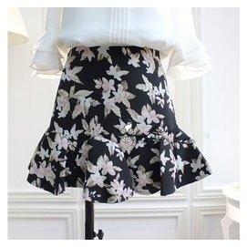 2015 新品 女裝 復古花朵魚尾短裙修身顯瘦包裙半身裙潮