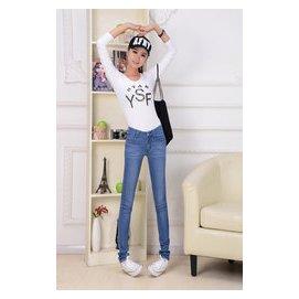 2015夏裝女式牛仔褲女裝牛仔褲中腰小腳褲 彈力修身緊身長褲潮