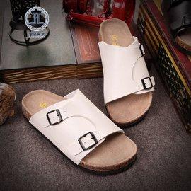 霽藍 男士 涼拖沙灘鞋 涼鞋皮男鞋透氣涼拖鞋沙灘鞋防滑 男鞋子 005 白色 40
