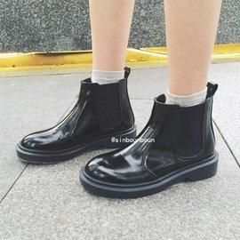 2016 女靴明星同款丁靴版短靴女平底英机靴