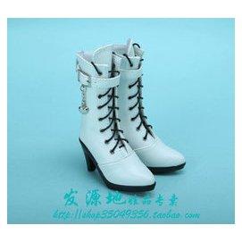 女款BJD SD娃娃鞋子SD DOD LUTS DZ等娃用小高跟中筒靴子~YGS34