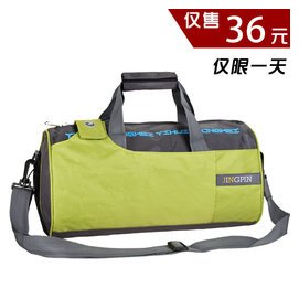 正品 包健身包圓筒包男女包旅行手提包單肩包斜 包圓桶包包郵