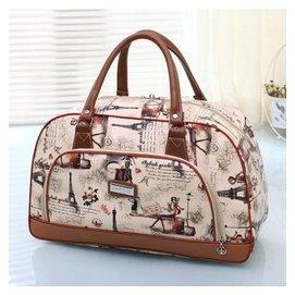 大容量男女手提旅行包行李PU皮包短途旅行袋出差包