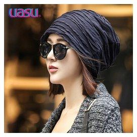 UASU2015 帽子潮男女鼕季包頭套頭帽 秋鼕天 頭巾帽堆堆帽