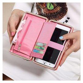 iphone6保護套5.5寸多 手腕手機包女 錢包女零錢包卡包郵