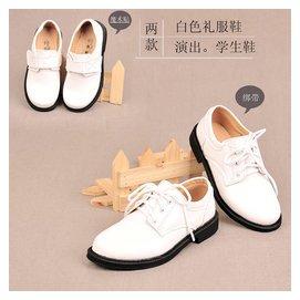 男童皮鞋光白 禮服花童服鞋白色皮鞋演出表演鞋合唱團兒童皮鞋
