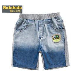 巴拉巴拉2014男童 夏裝 男小童牛仔短褲潮 純棉褲子夏